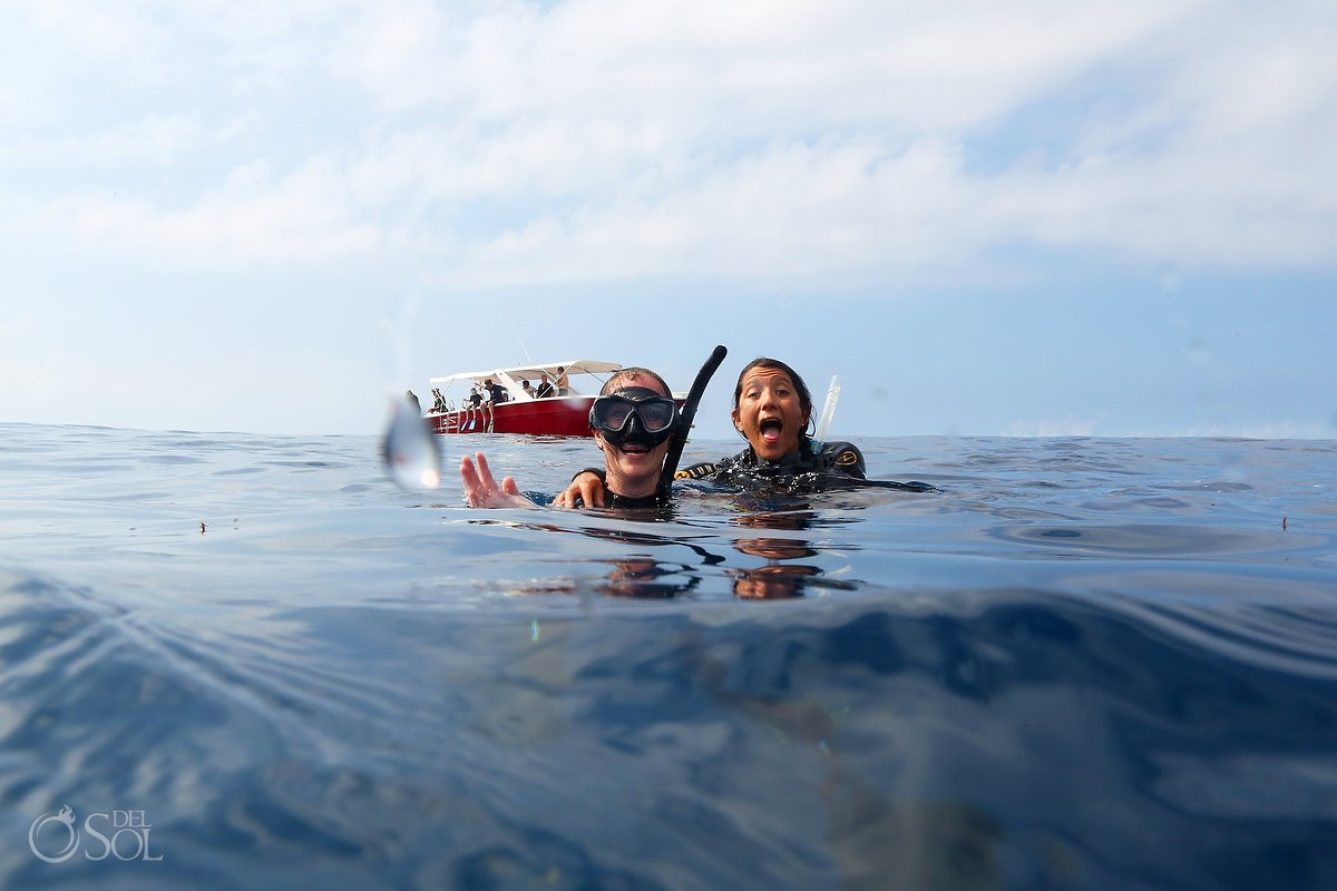 divers on Whale Shark Photos workshop Isla Mujeres Mexico #Aworldofitsown