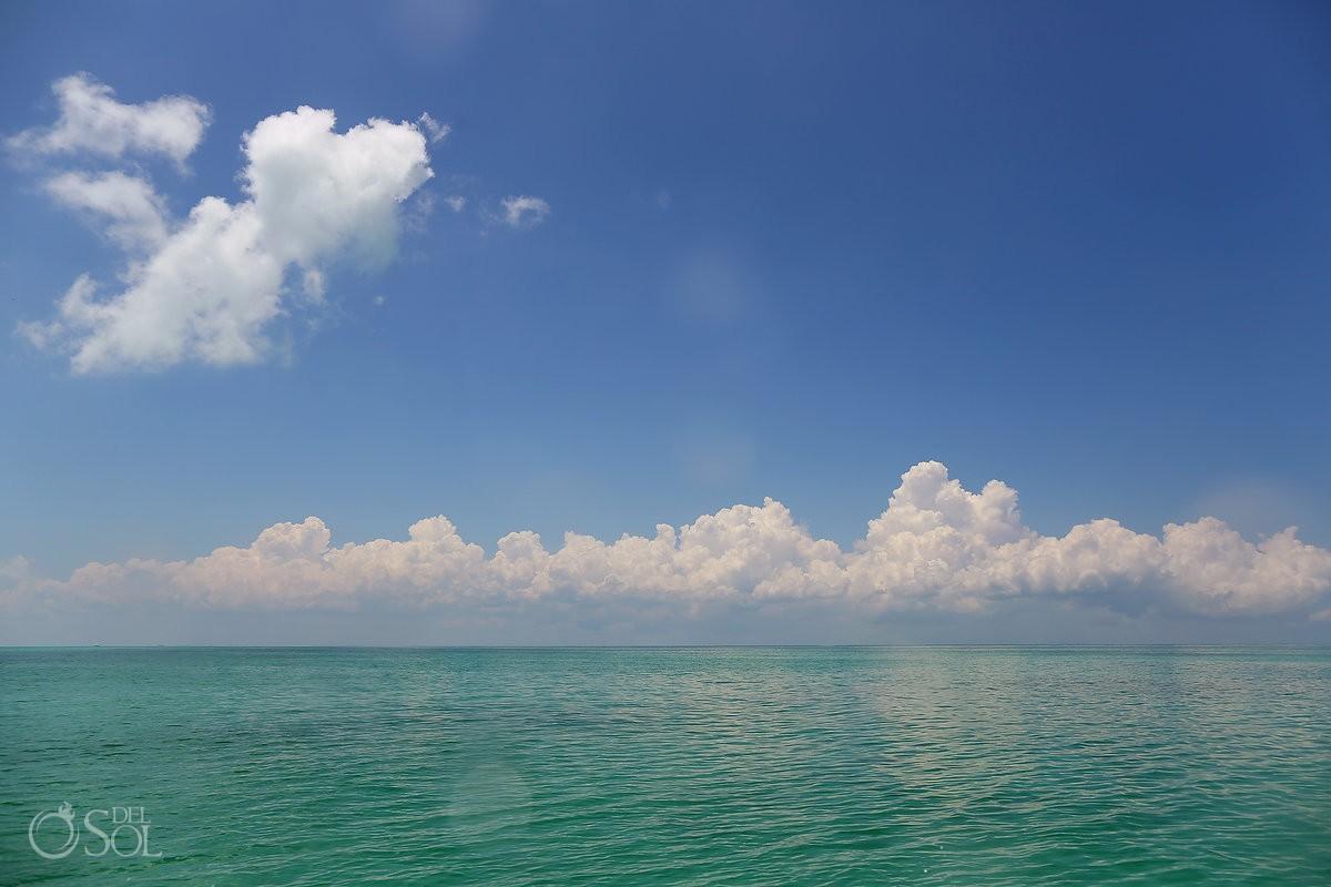 caribbean ocean near Isla contoy Mexico