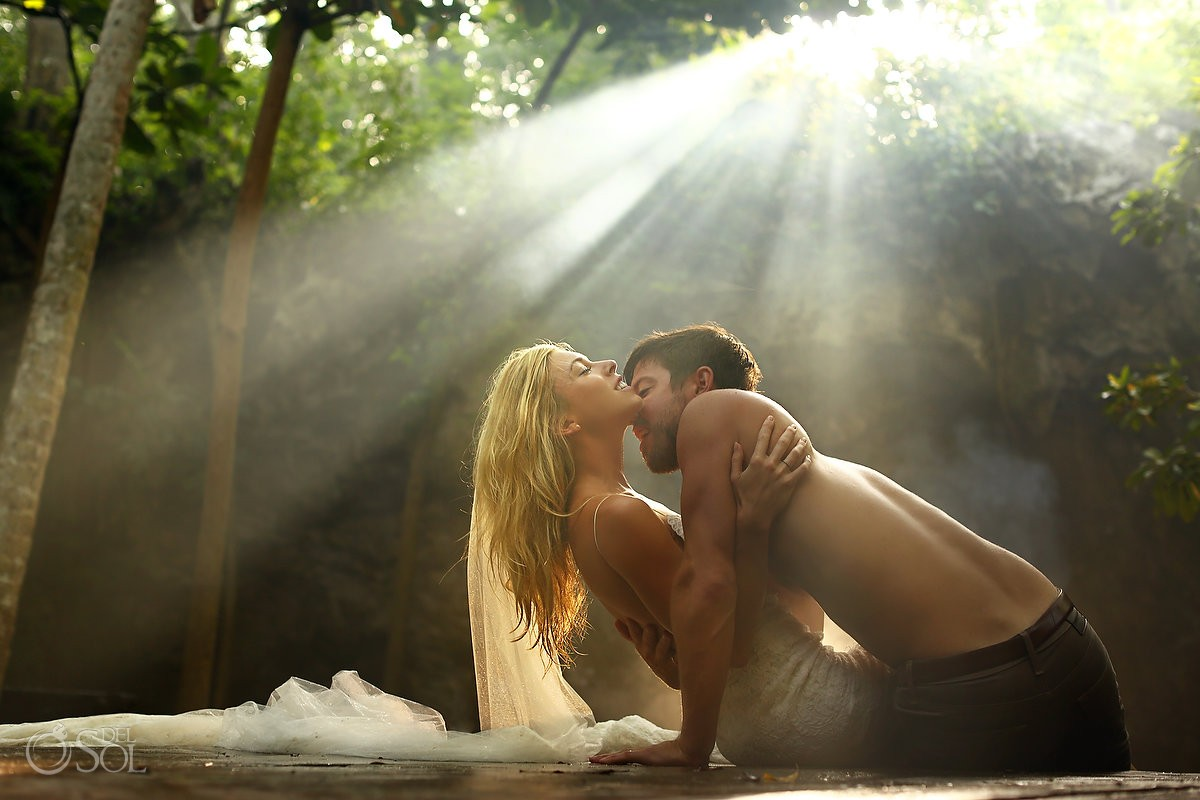 Adam and Eve Cenote Trash the Dress - Emily and Scotty