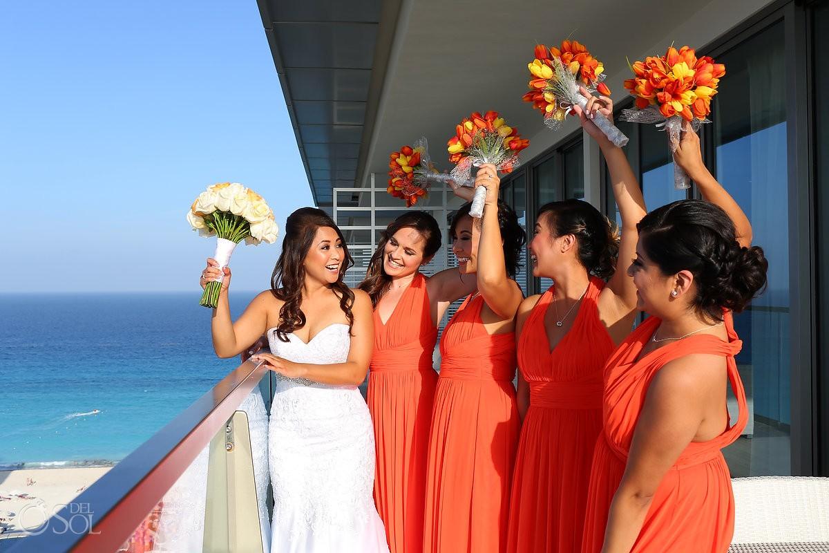 Cancun Wedding Secrets Vine bridesmaids