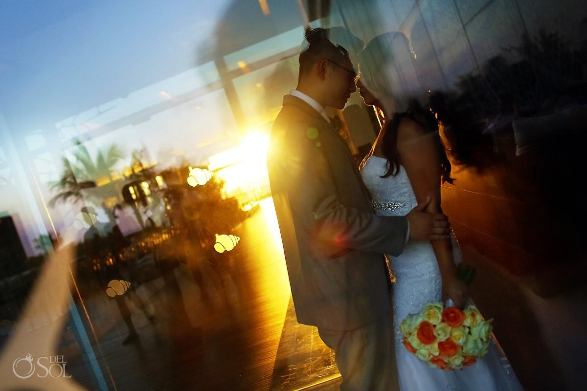 Cancun Wedding Secrets Vine bride and groom