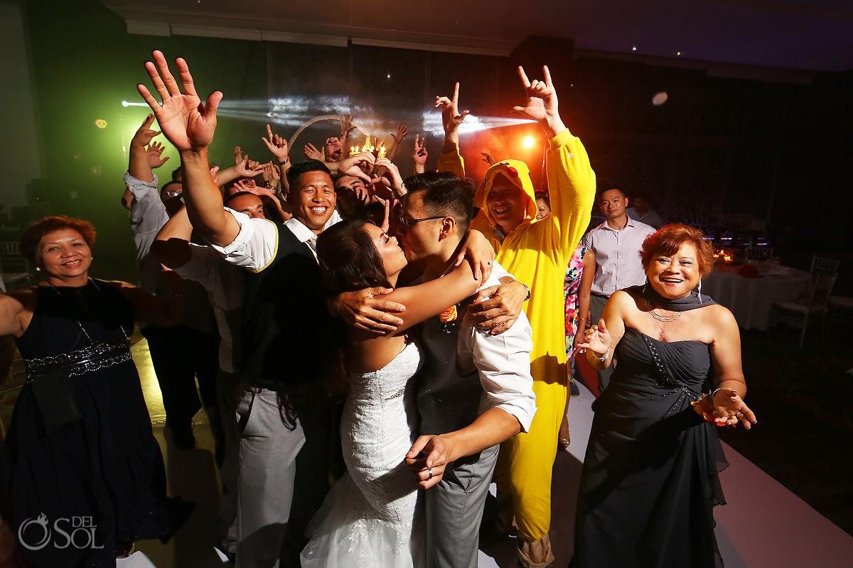 Cancun Wedding Secrets Vine reception