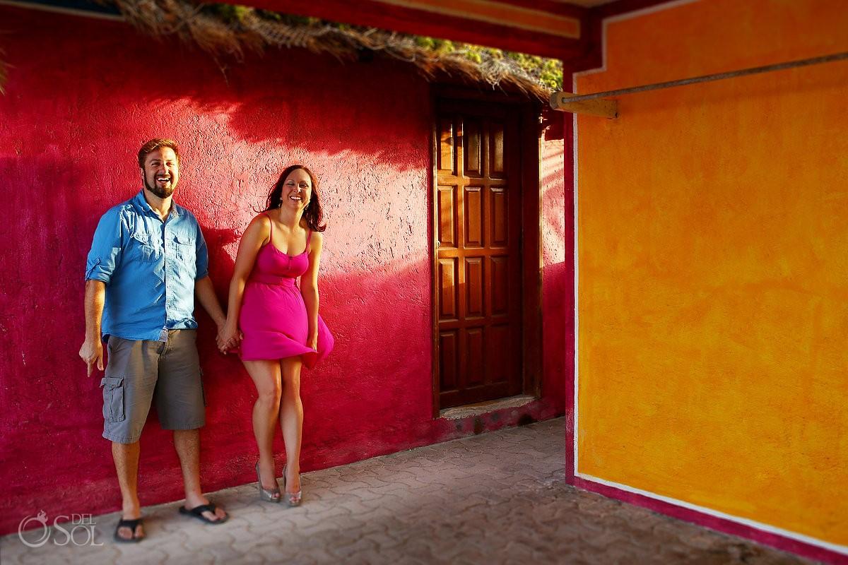 Engagement portrait photos in Akumal, Riviera Maya, Mexico
