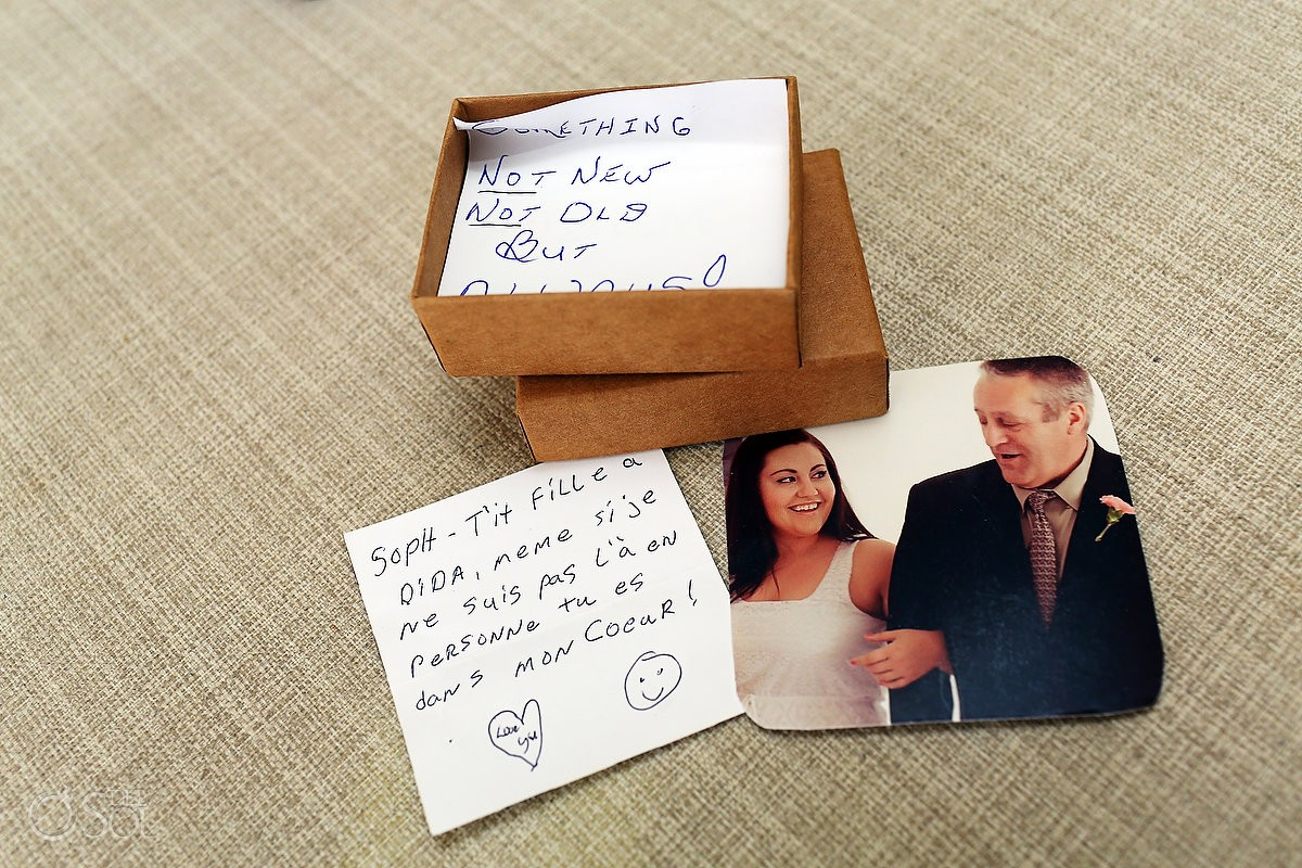 wedding day note from Father daughter moments