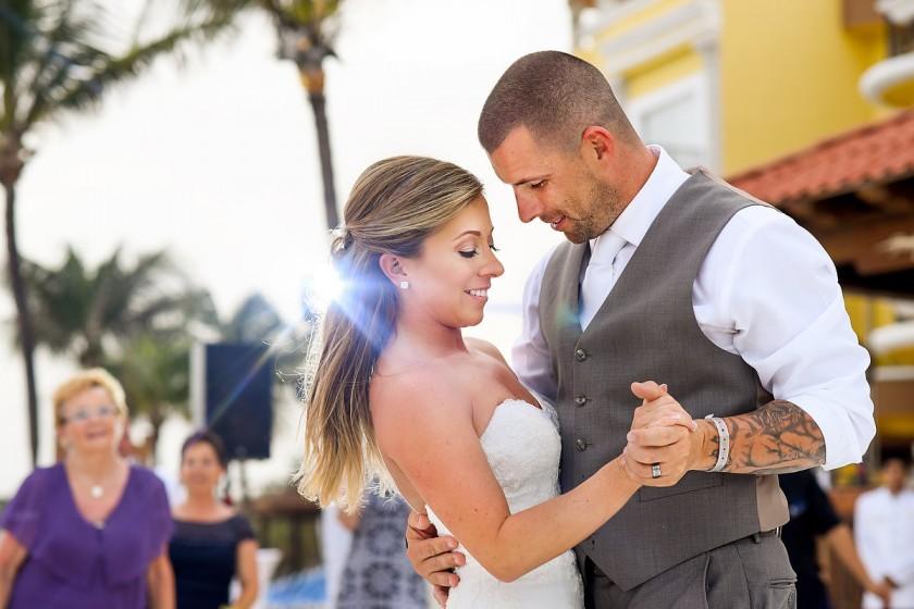Denise and Shawn, Wedding at Gran Porto Real Resort & Spa, Playa del Carmen, Mexico. Photos by Del Sol Photography.