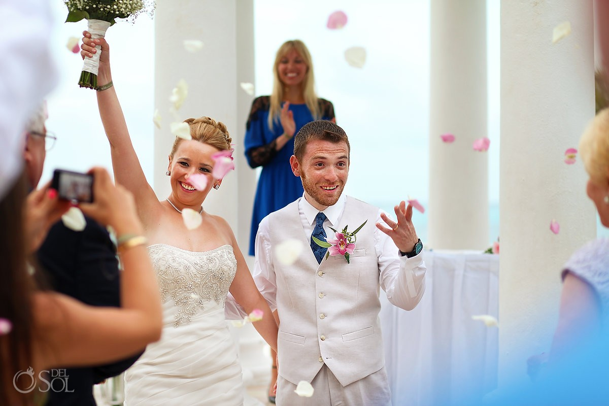 Destination Wedding Ceremony Hotel Riu Palace Las Americas, Cancun, Mexico.