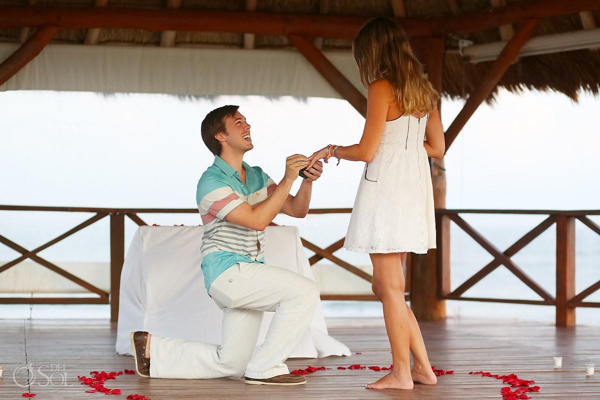 Surprise Engagement at Secrets Silversands Riviera Cancun, Mexico.