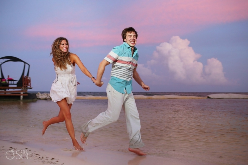 Surprise Engagement Portraits at Secrets Silversands Riviera Cancun, Mexico.