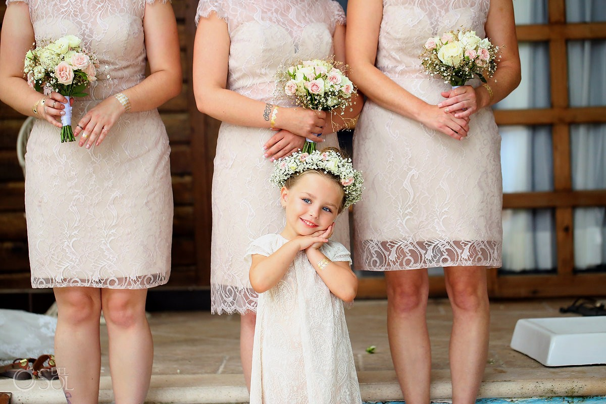 Cute Flower Girl Boho vintage wedding style