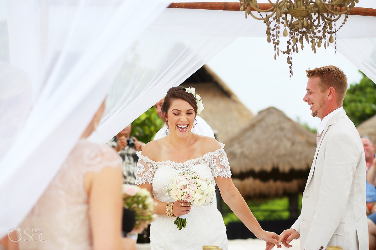 Romantic Boho Wedding at Blue Venado Beach Club Playa del Carmen Mexico