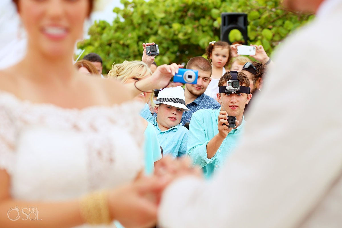 Cameras and GoPro at wedding, not an unplugged wedding