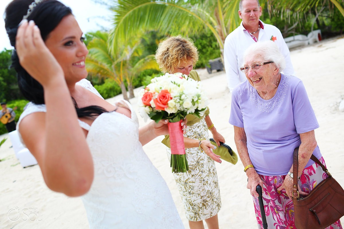 grandmother and bride, Wedding at Grand Coral Beach Club