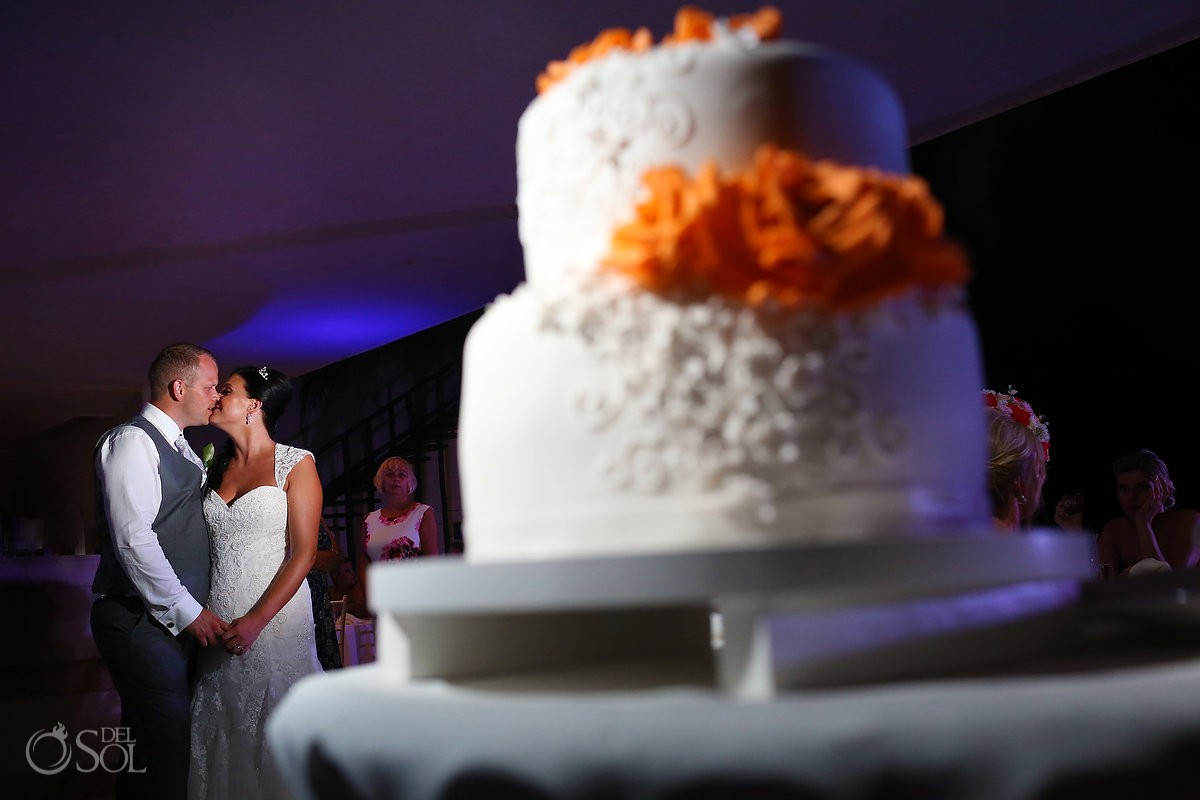 first dance with a wedding cake wedding reception