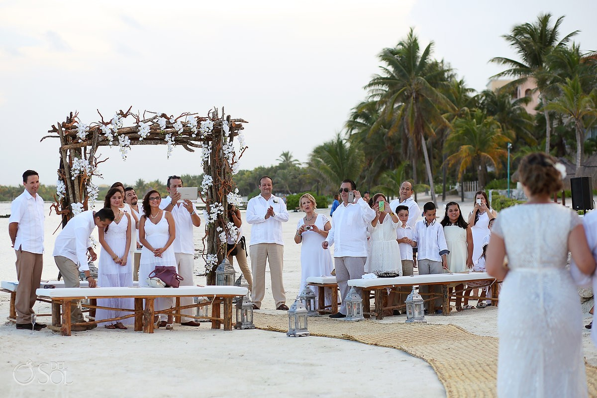 `Wedding ceremony at Omni Puerto Aventuras Beach Resort, Mexico.