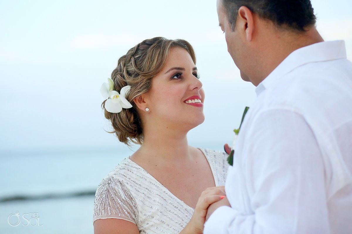 bride and groom portraits at a wedding in Omni Puerto Aventuras Beach Resort, Mexico