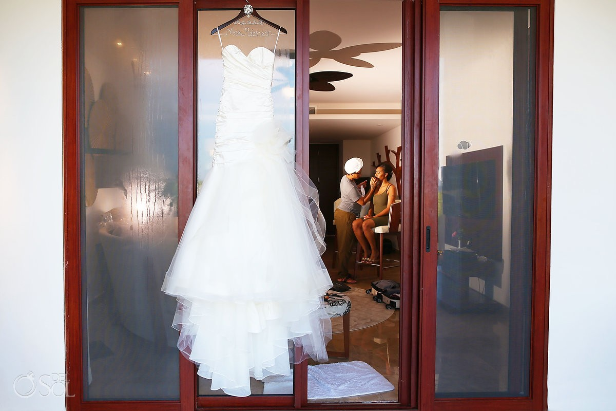 Bridals by Lori wedding gown at Secrets Playa Mujeres, Cancun, Mexico