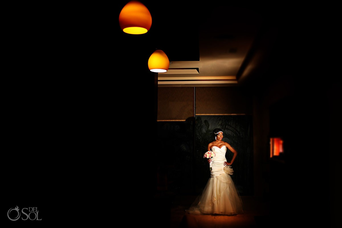 amazing bridal portrait at Secrets Playa Mujeres, Cancun, Mexico