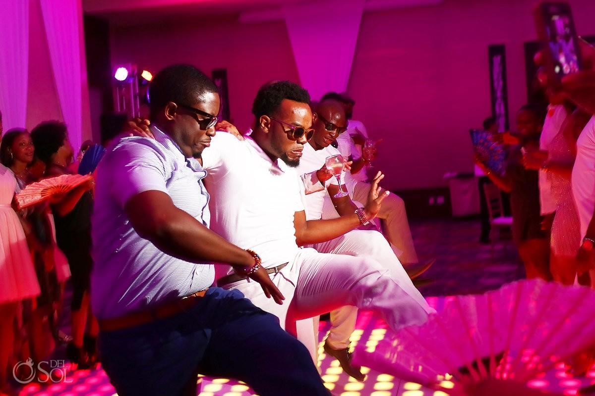 dancing during a ballroom wedding reception at Secrets Playa Mujeres, Cancun, Mexico
