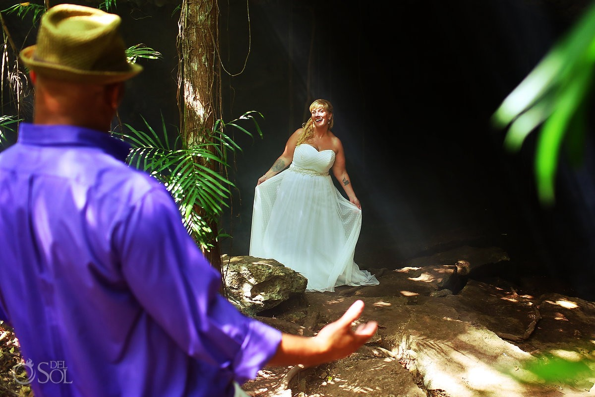 arriving in the jungle for the underwater trash the dress session