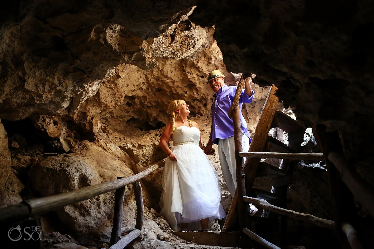 arriving in the jungle underground cave for the underwater trash the dress session