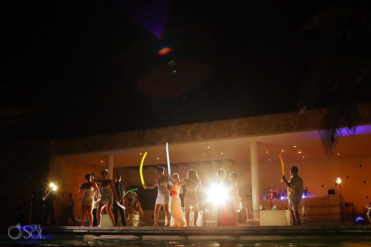 Wedding reception pool venue Grand Coral Beach Club Playa del Carmen