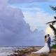 bride and groom portrait Wedding at Grand Palladium