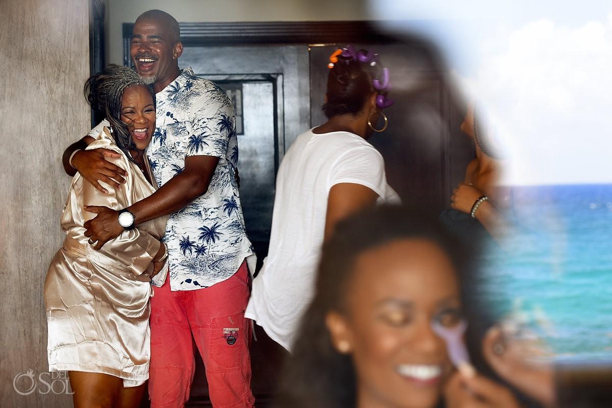 family love during a Wedding at Hard Rock Hotel Riviera Maya