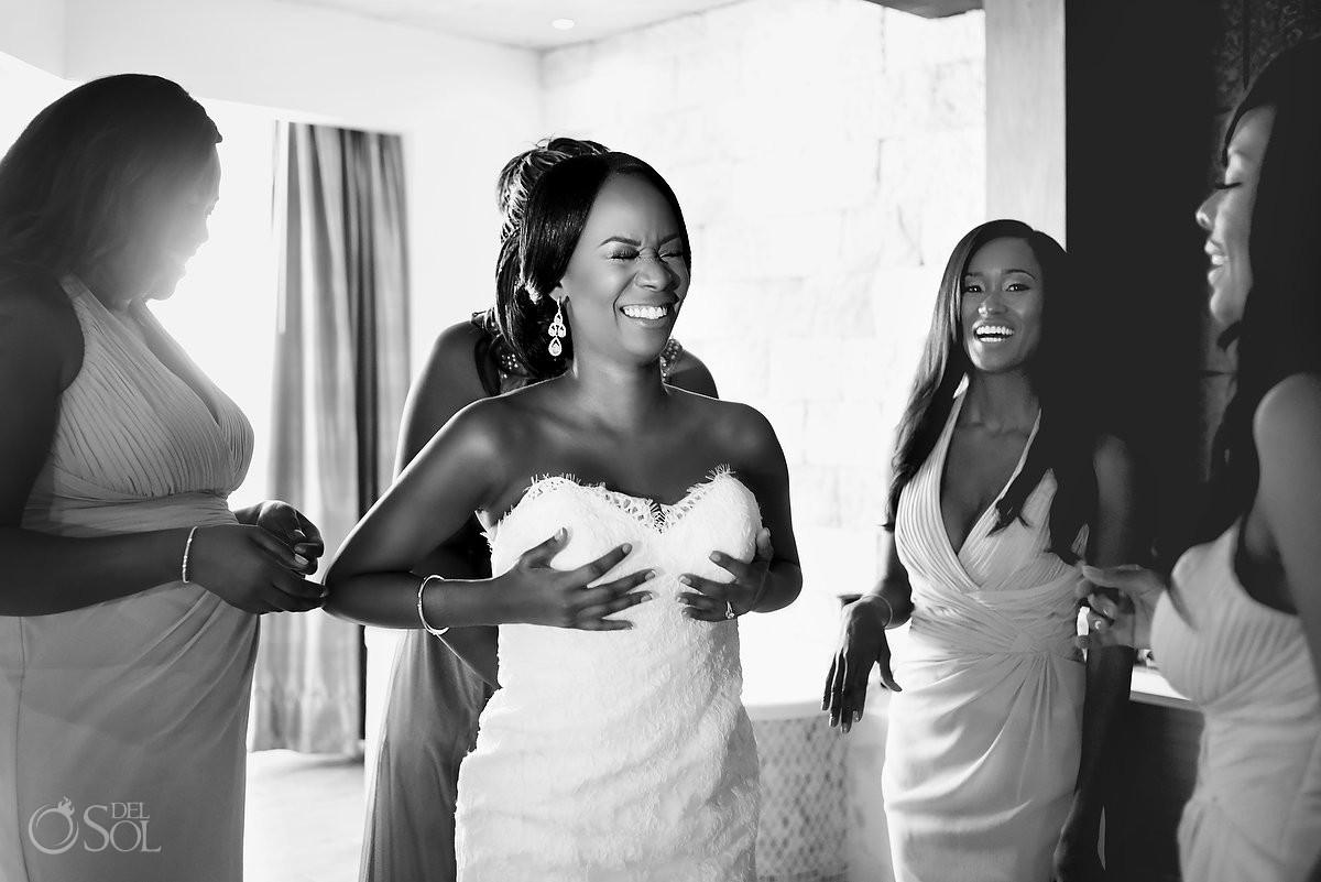bride Kitty Chen Couture dress Wedding at Hard Rock Hotel Riviera Maya