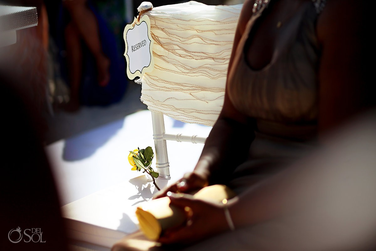 reserved seat for a deceased family member wedding at Hard Rock Hotel Riviera Maya