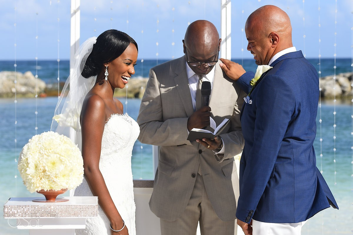 bride and groom at wedding in Hard Rock Hotel Riviera Maya