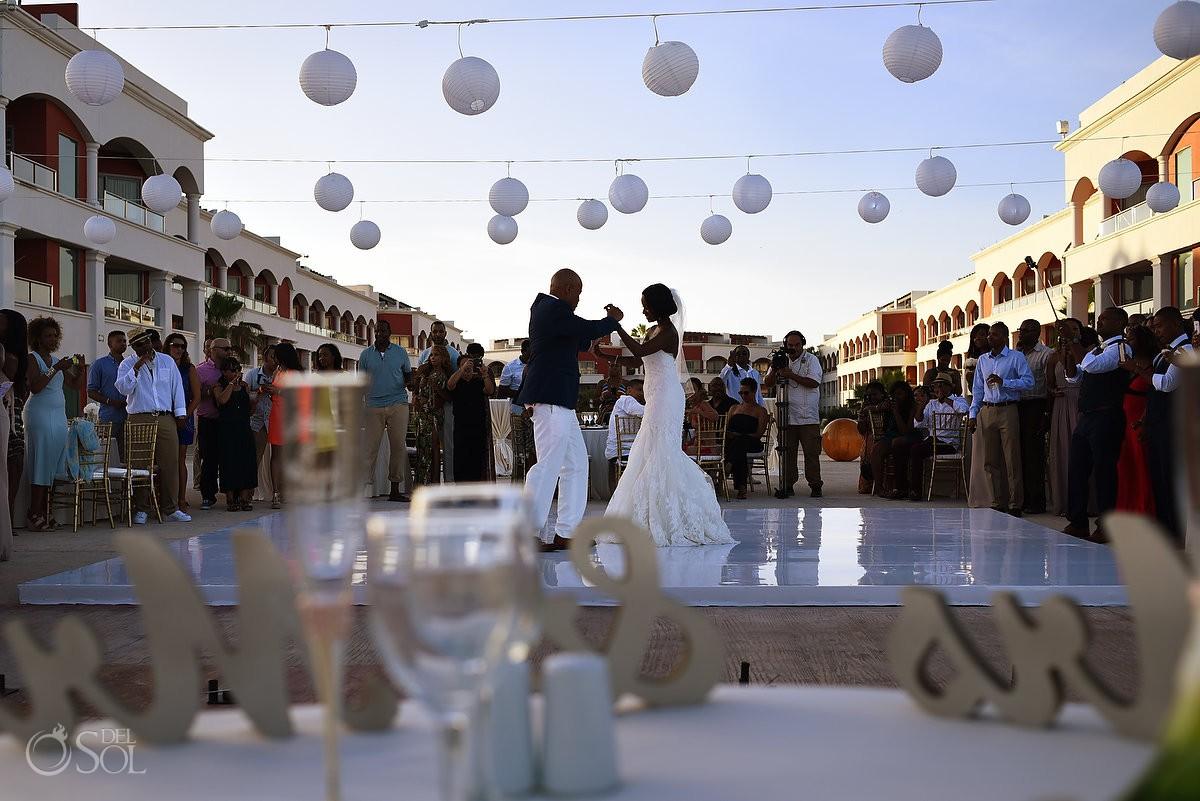 first dance wedding reception at Hard Rock Hotel Riviera Maya
