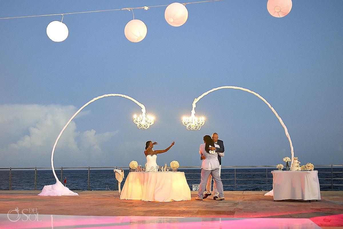 toasts wedding reception at Hard Rock Hotel Riviera Maya