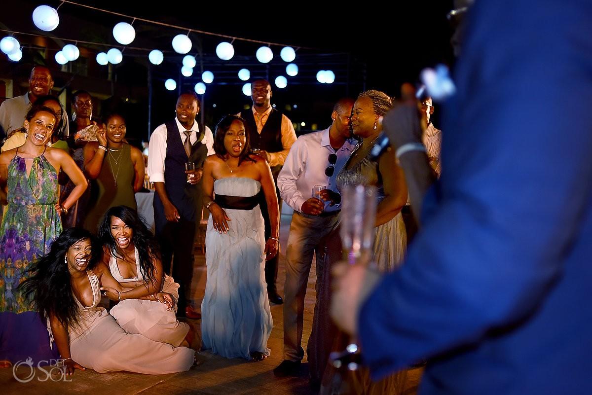 wedding reception dancing at Hard Rock Hotel Riviera Maya