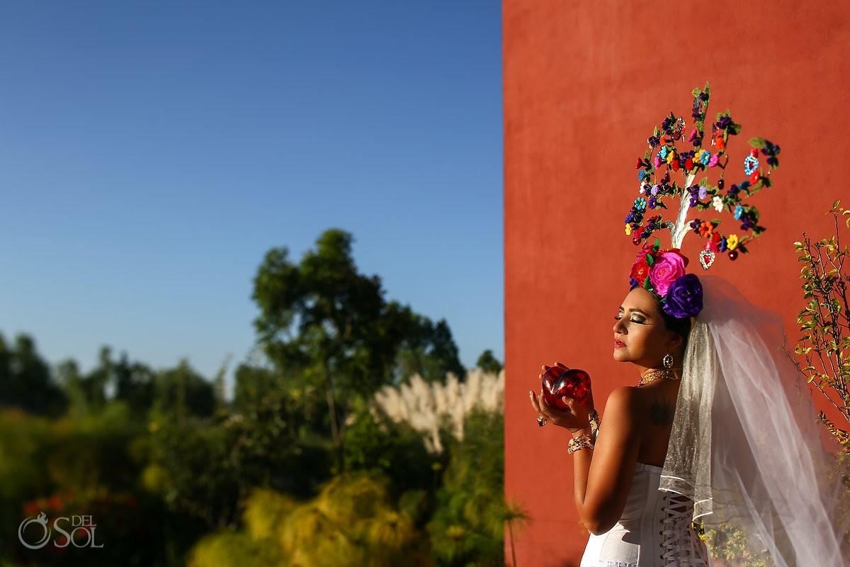 Mexican Bride La Novia de Mexico Rosewood Hotel glass heart, San Miguel de Allende