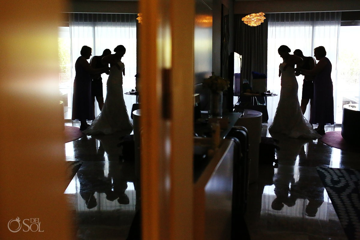 groomsmen getting ready for Wedding at Paradisus, Playa del Carmen