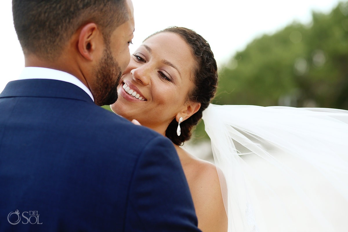 bride and groom portrait for their Wedding at Paradisus, Playa del Carmen