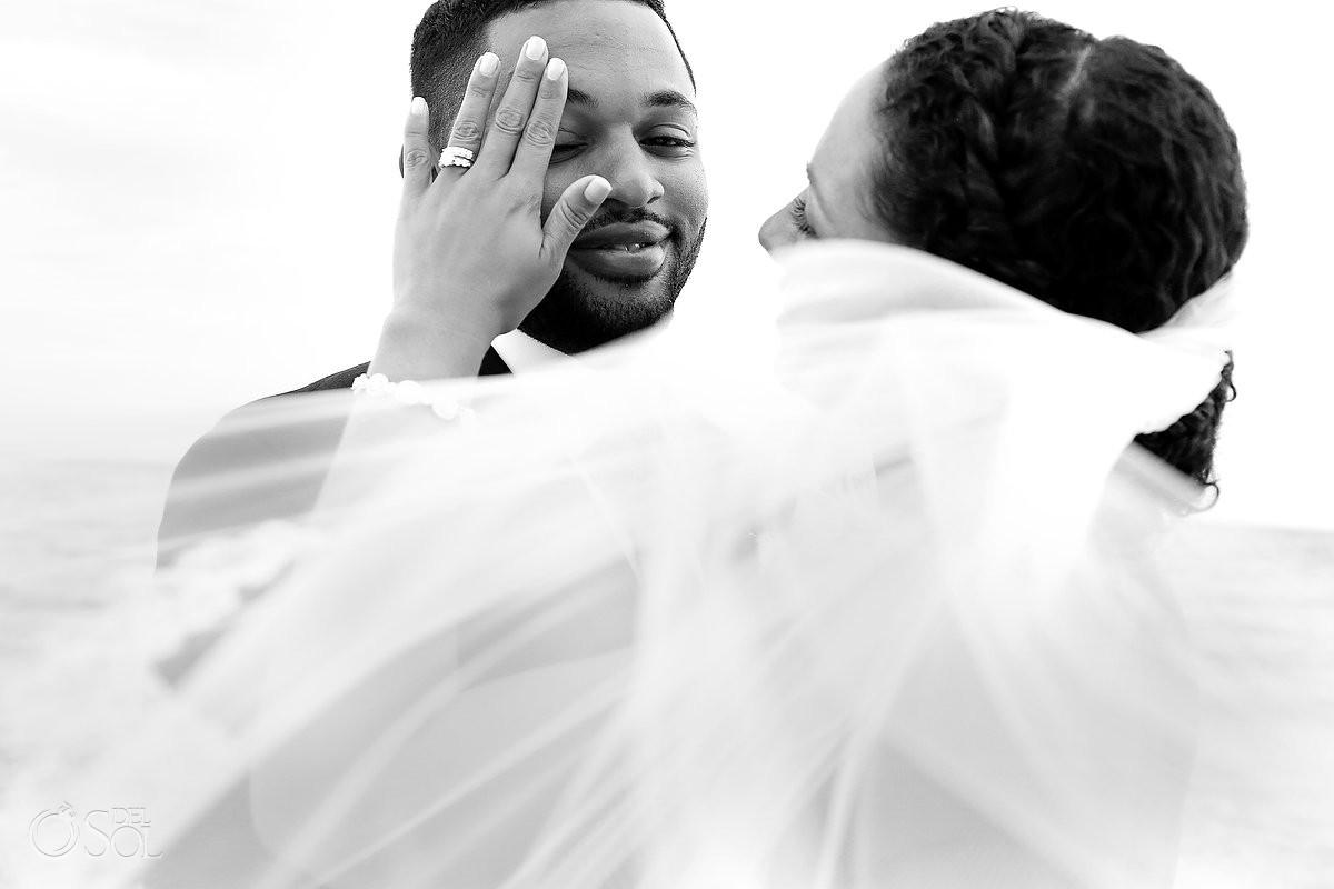groom crying for his Wedding at Paradisus, Playa del Carmen
