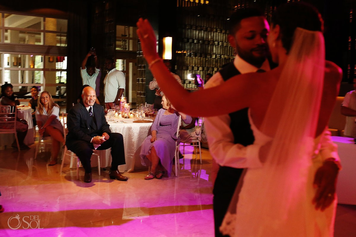 bride and groom first dance for their Wedding at Paradisus, Playa del Carmen