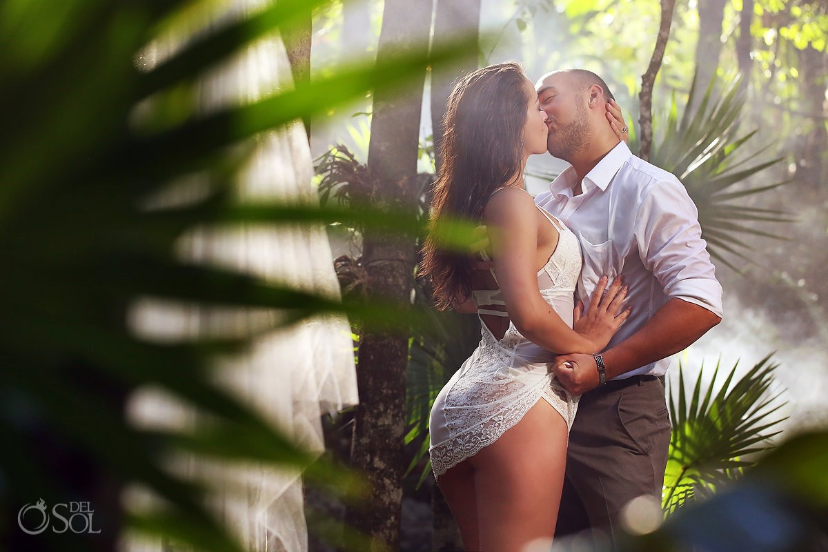 Sexy cenote boudoir trash the dress bridal lingerie Riviera Maya Mexico