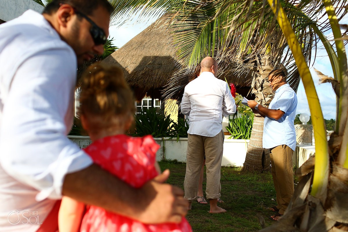 Garden Vow Renewal children Playa Paraiso, Riviera Maya, Mexico.