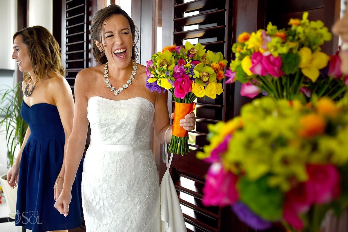 bride in gown Galina by David's Bridal at hotel esencia