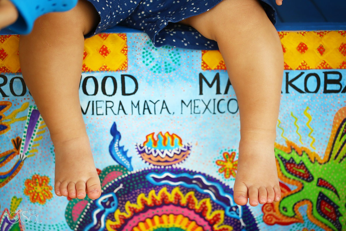 baby legs details painted cart Family Portraits Rosewood Mayakoba, Playa del Carmen, Mexico.