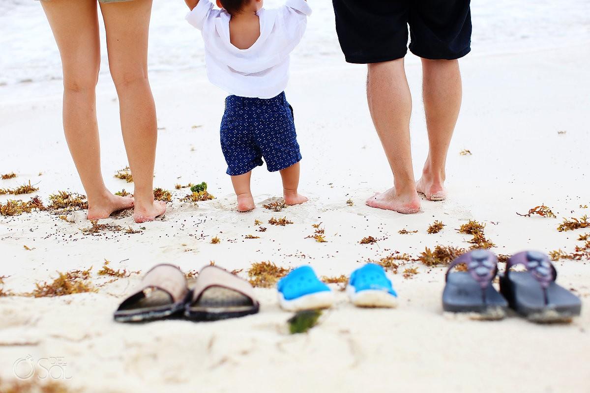leg detail beach Family Portraits Rosewood Mayakoba, Playa del Carmen, Mexico.