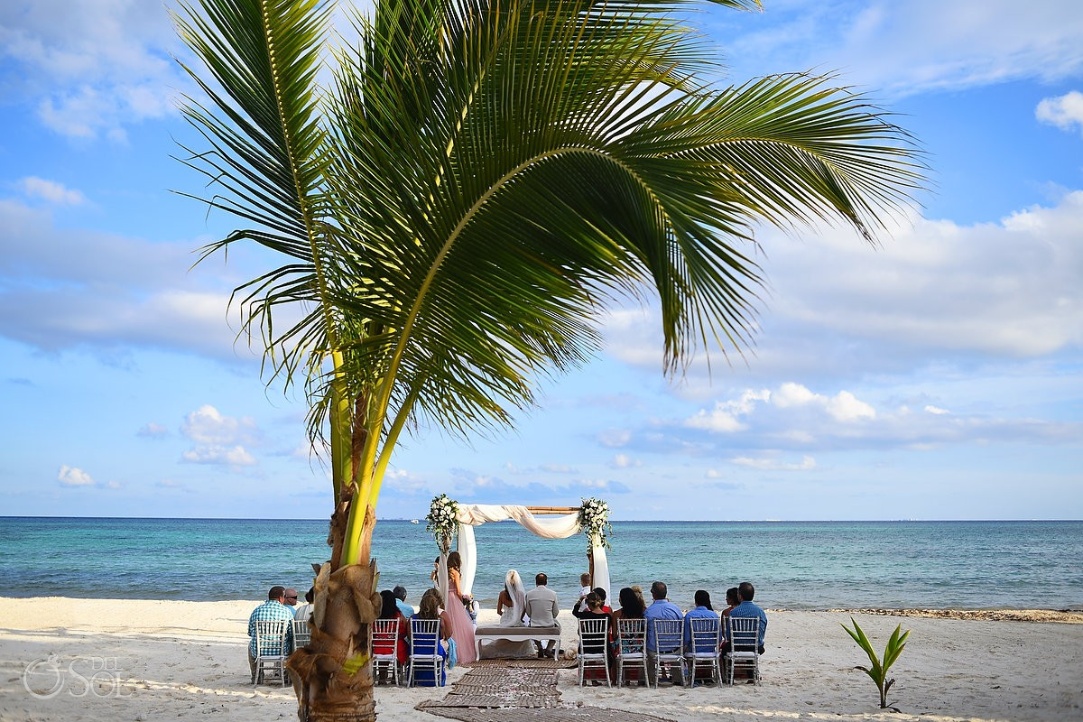 Mayan beach Wedding Grand Coral Beach Club, Playa del Carmen, Mexico.
