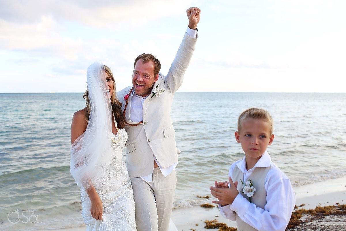 Newley wed celebration mayan Wedding Grand Coral Beach Club, Playa del Carmen, Mexico.
