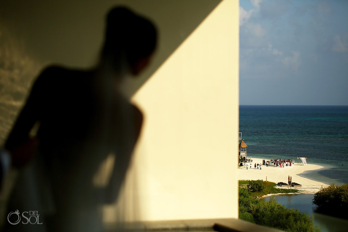 Nizuc bride getting ready beach Wedding ceremony location Cancun