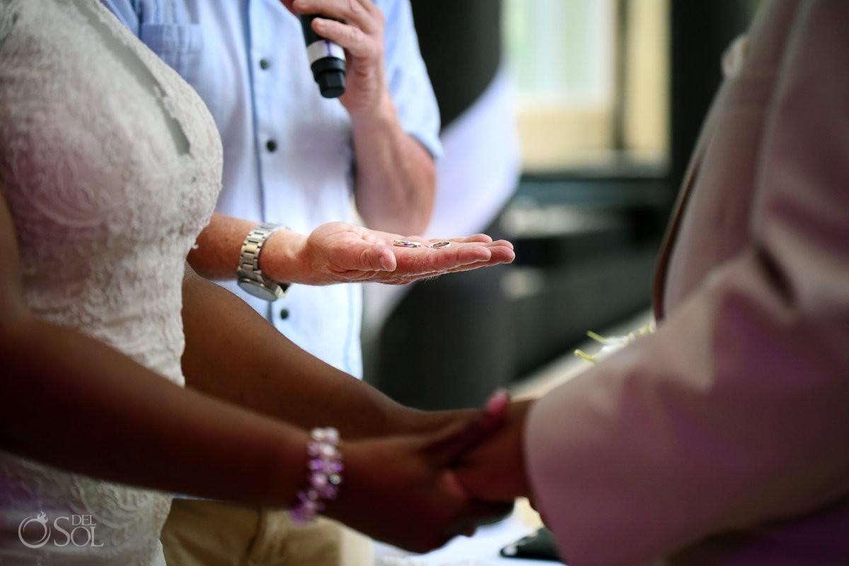 Black African American chocolate wedding ceremony ring Now Jade Riviera Maya Mexico