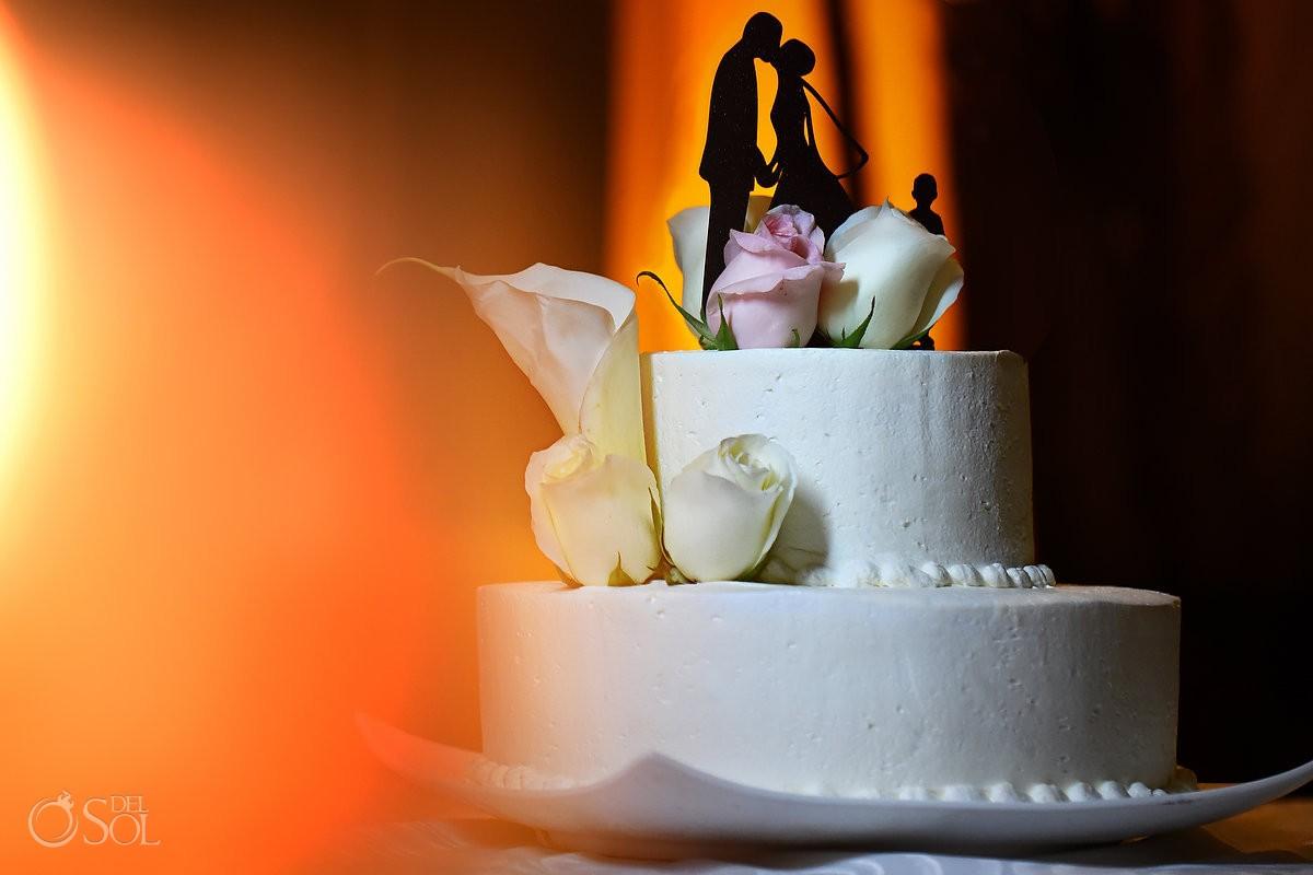 Wedding reception cake topper Now Jade Riviera Maya Mexico