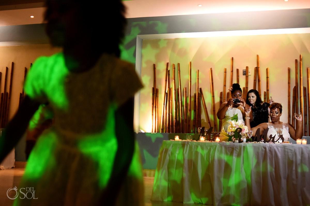 Wedding reception kids dancing Now Jade Riviera Maya Mexico