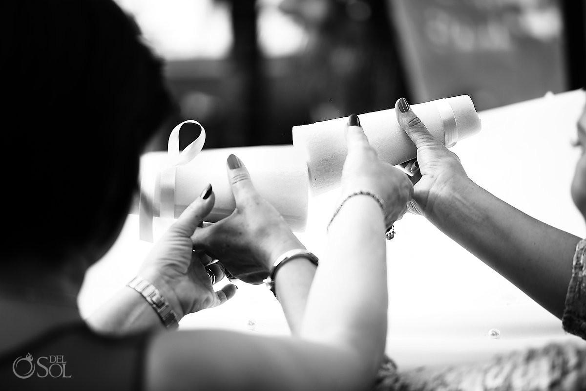 rubbing sugar cones, Kalleh Ghand, Persian Wedding Rosewood Mayakoba, Playa del Carmen, Mexico